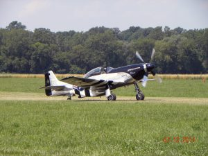 P-51 Mustang taxiing out for takeoff