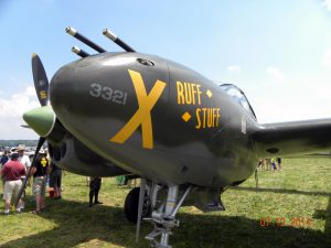 The business end of the P-38