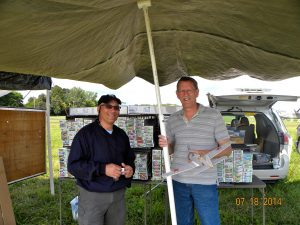 Dave Niedzielski, owner of Easy Built Models, with Mike O'Neill and his Kharkov at 2014 FAC NATS.