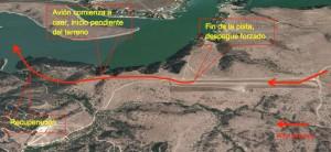 Trayectoria de la aproximación y aterrizaje abortado, Lago Rapel