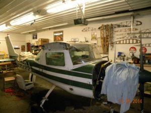Cessna 150 in EAA Restoration Shop