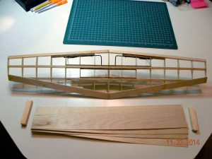 Topside of wing- build complete, before sheeting and wingtips.