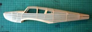 Covering of the fuselage completed. Cubrimiento del fuselaje terminado.