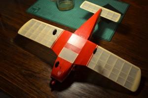 Detail of the completion of the fuselage, before painting. Detalle de la terminación del fuselaje, antes de pintar.
