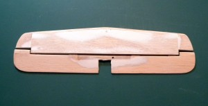 Rough sanding complete on elevator and horizontal stabilizer.