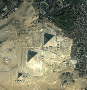 In addition to several pyramids, Giza is also home to the Great Sphinx and ancient temples.