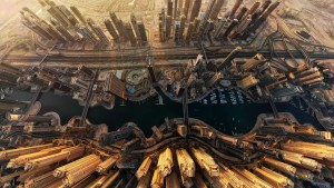 Dubai Marina is an artificial canal city that's built along a 3 kilometer (2 mile) stretch of Persian Gulf shoreline.
