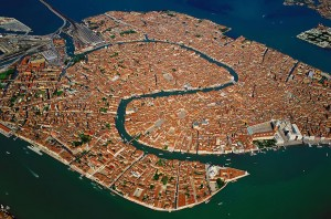 The beautiful Italian city of Venice is situated on a group of 118 small islands separated by canals and linked by bridges.