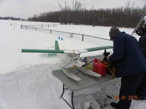 Prepping the Kadet Senior for flight.