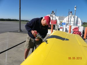 Steve Dwyer fueling his RV-9A.