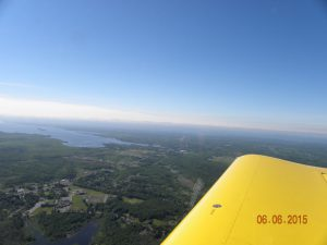 Airborne over northern Onondaga County. Heading east over Central Square towards Oneida Lake.