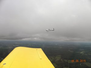 Fred in his RV-7 flying wingman. We flew under the clouds at 2,500 feet. Air speed pf 175 mph.