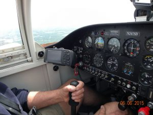 Steve Dwyer at the controls of his RV-9A.