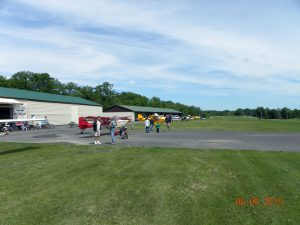 Looking north up the flight line and runway at Kline Kill. This is a very long grass strip.