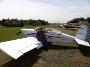 Fred Edmunds and his RV-7.