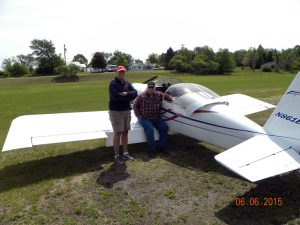 Flying buddies and fellow RV owner/pilots Steve Dwyer and Fred Edmunds.