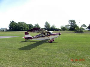 A pretty Citabria taxing for take off from Kline Kill.