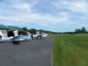 Another shot looking north at the flight line and runway at Kline Kill.