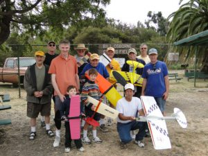 Some of a California group that made 428 Ringmaster flights during 2010 Fly-A-Thon