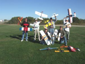 Group that flew at the Burlington Model Airplane Club's field, 2011
