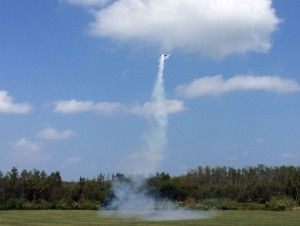 There were planes looking like rockets