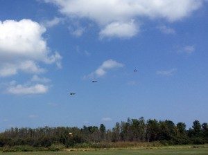 There were F-86 Sabre Jets flying in formation