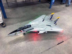 Michael Lambert, from the Oswego Valley Modelaires, was showing off his new F-14 jet from Freewing Models. The electronics and mechanicals in this jet were awesome.