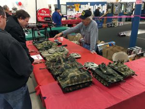 A very nice display of R/C tanks. There was some great detail on these tanks!