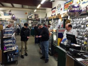 Lot's of interested customers and helpful sales staff.
