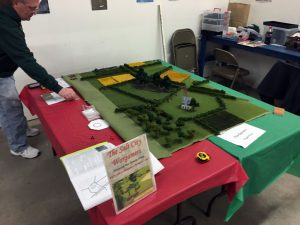 A local wargame miniatures club was on hand.