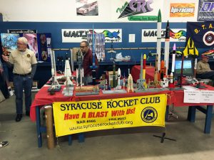 The sign says it all! Some awesome rockets with lot's of detail were on display.