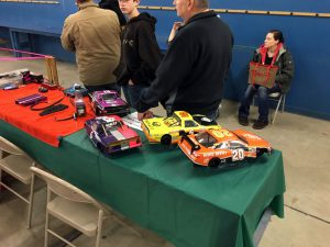 There were plenty of R/C cars that were burning up the indoor track throughout the day.