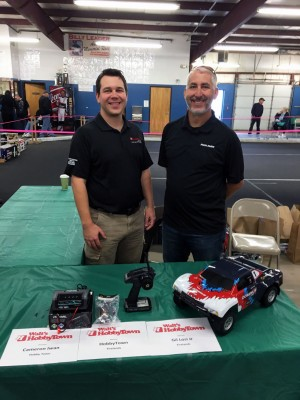 Cameron Iwan, HobbyTown Franchise Business Advisor, (L) was in attendance along with Gil Losi Jr. (R) who was displaying HobbyTown's 'Firelands' brand R/C cars and gear. Very nice guys to talk with!
