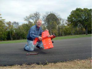 Jim (Iron Man) Varno with his Super Ringmaster (56 flights!)