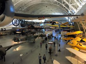 There were multiple levels of displays and no matter where you looked all you saw were planes!