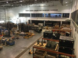 The Mary Baker Engen Restoration Hanger is a $30 million hanger devoted to the meticulous restoration and preservation of historic aerospace wonders.