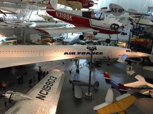 Everything from light personal aircraft to the Concorde SST are on display.