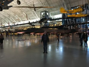 My son Kyle was particularly impressed by the SR-71...enough to get his photo taken standing alongside it!