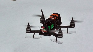 Racing Quad on Snow Skis
