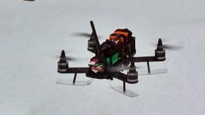 Racing Quad on Snow Skis
