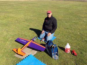 Steve prepping his 'Tutor 50' for flight