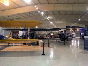 A view inside one of the main display hangers.