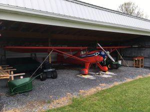 Luscombe in second hanger