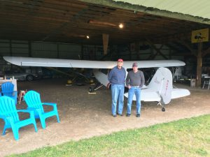 Steve Dwyer and Chuck Burtch with Chuck's Aeronca
