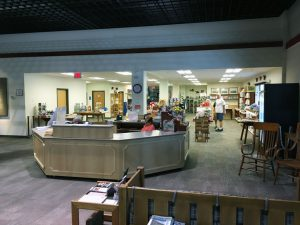 New visitor reception and gift shop areas.