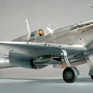 The model beautifully captures the Spitfire's elegant lines, while its bare metal finish hides none of the fine detail